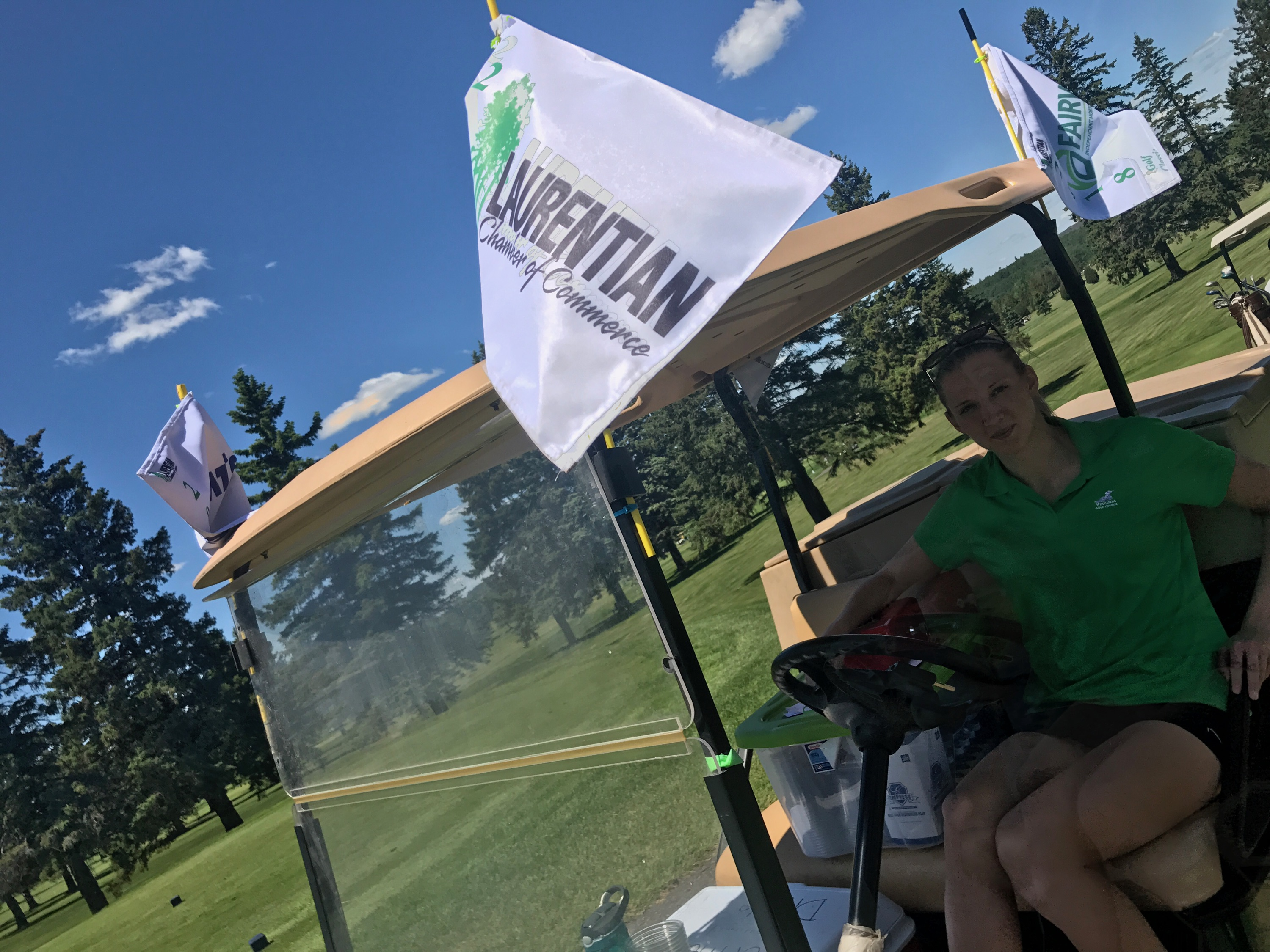 Laurentian Golf Bev Cart Flag 2018